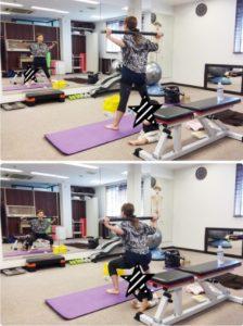 AKINAさん加圧トレーニング