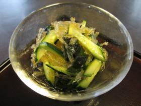 糸寒天とわかめと胡瓜のサラダ