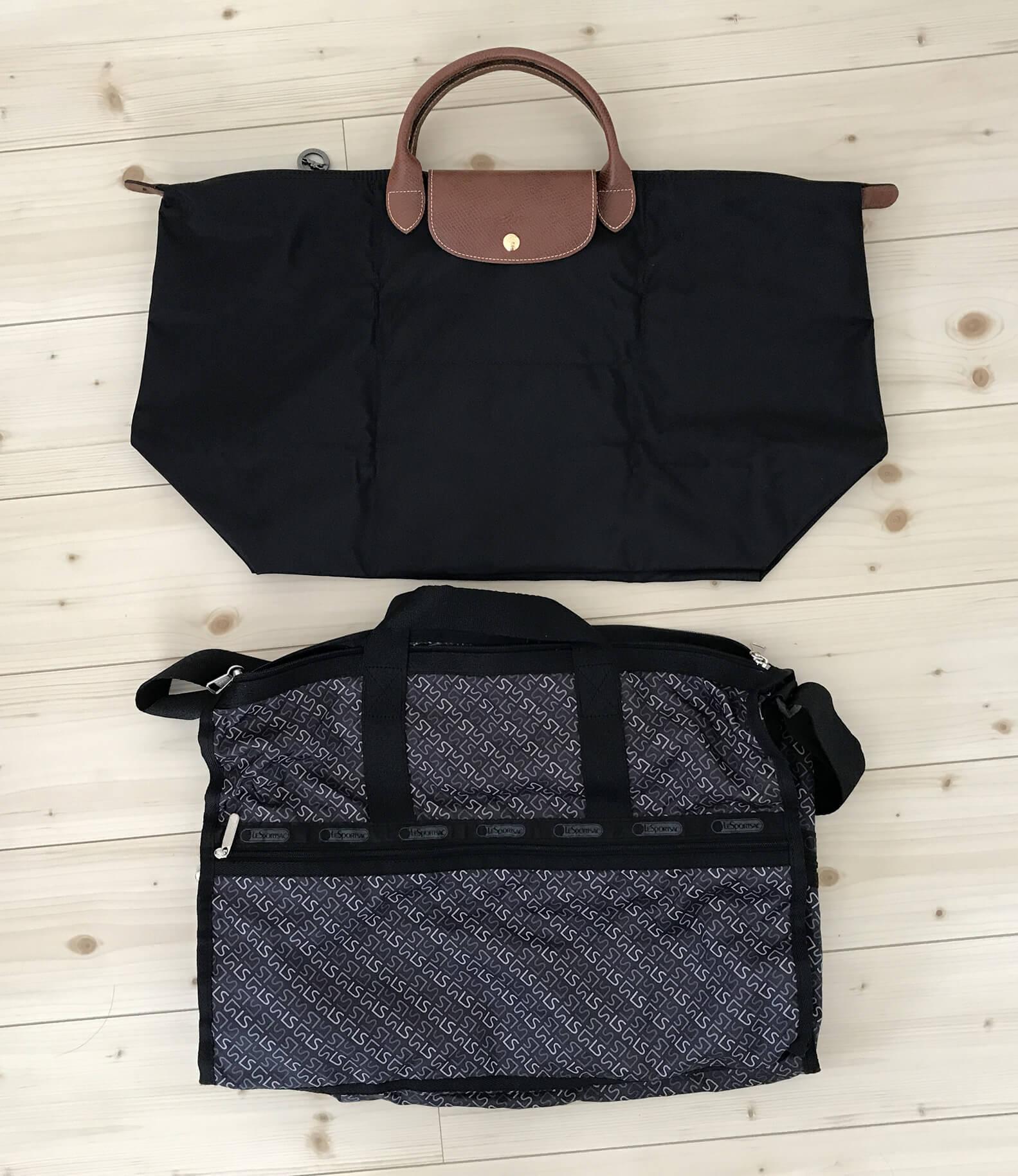 トラベルバッグのサイズ比較