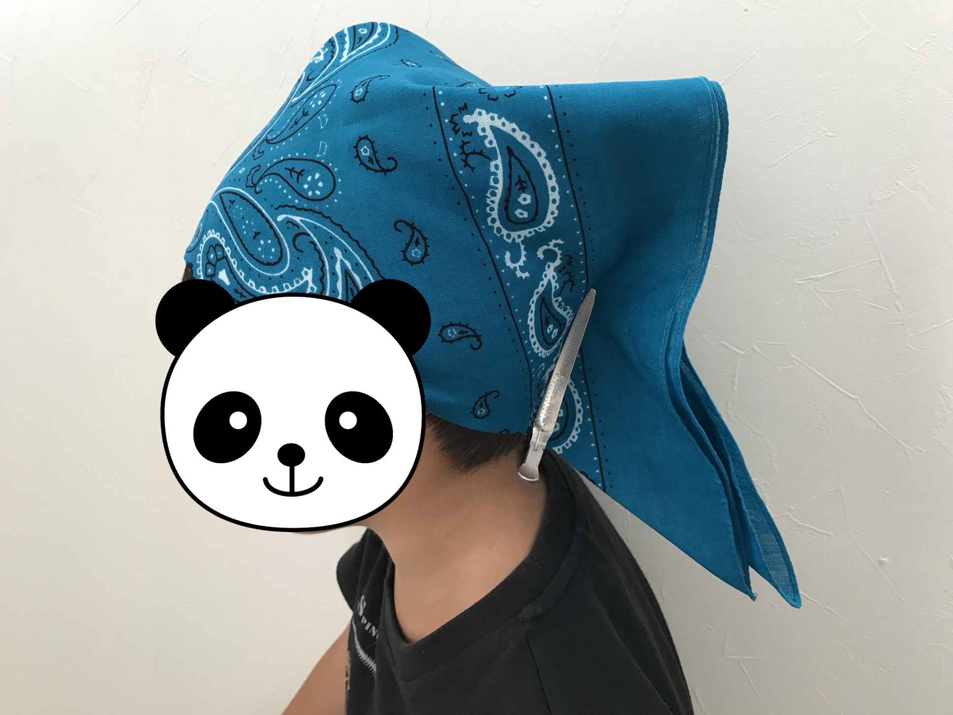 バンダナ三角巾の作り方1