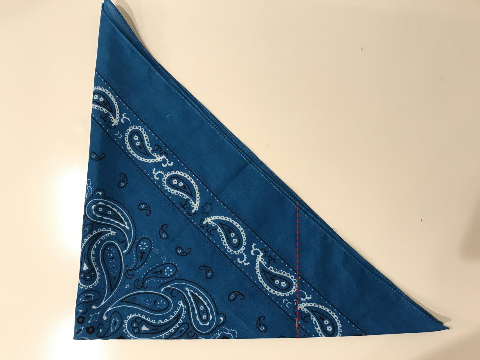 バンダナ三角巾の作り方2