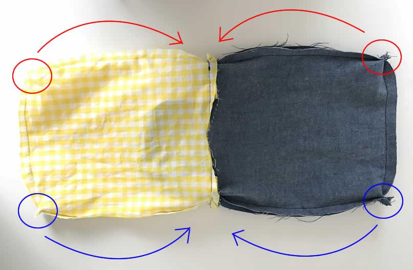 上履き袋の作り方7