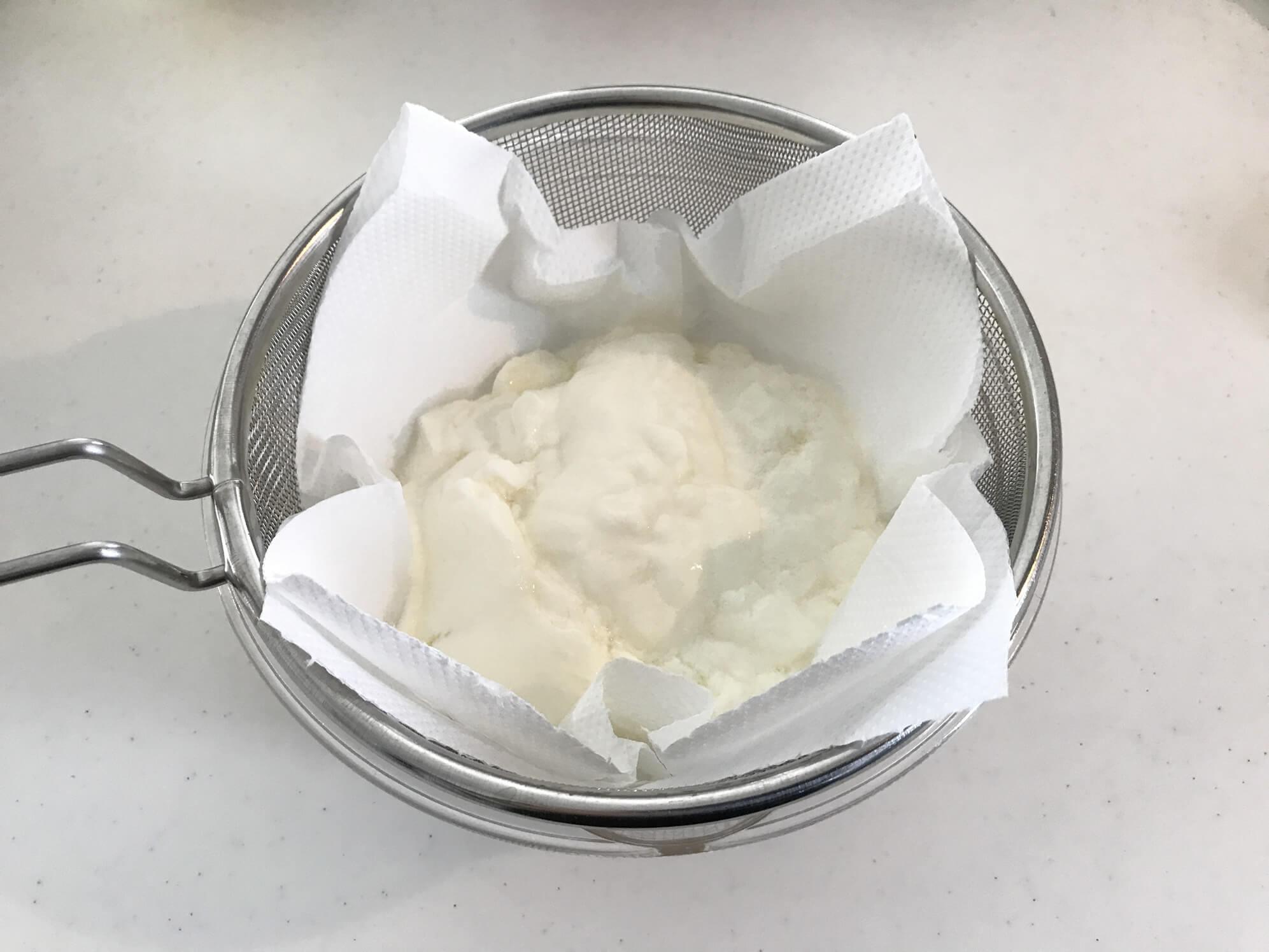 水切りヨーグルトの作り方2