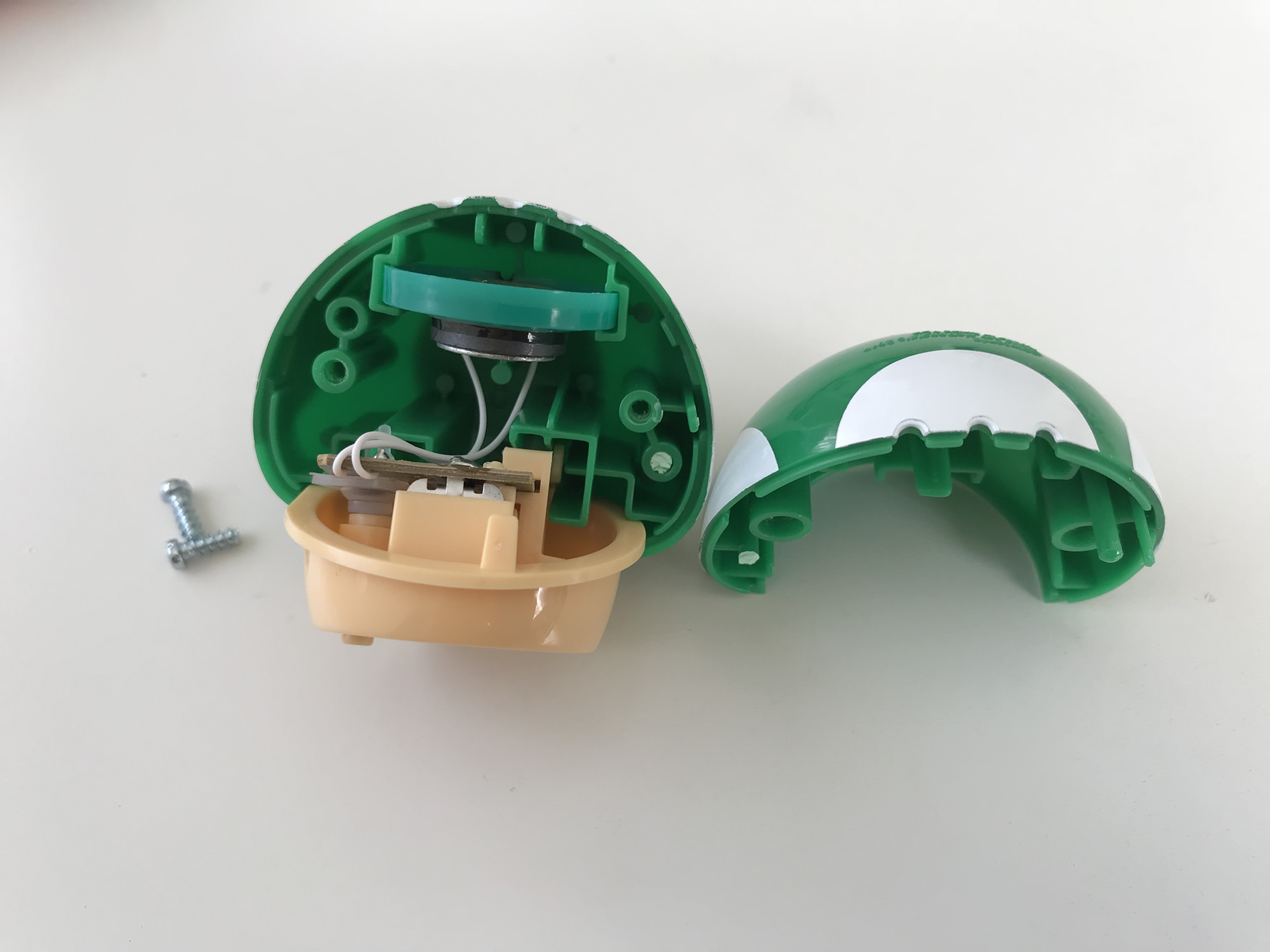 ハッピーセットのおもちゃ 電池交換
