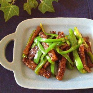 ダイエット*凍りこんにゃくの青椒肉絲