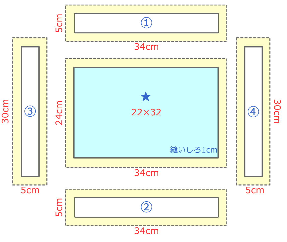 額縁ランチョンマット幼稚園サイズ(表)