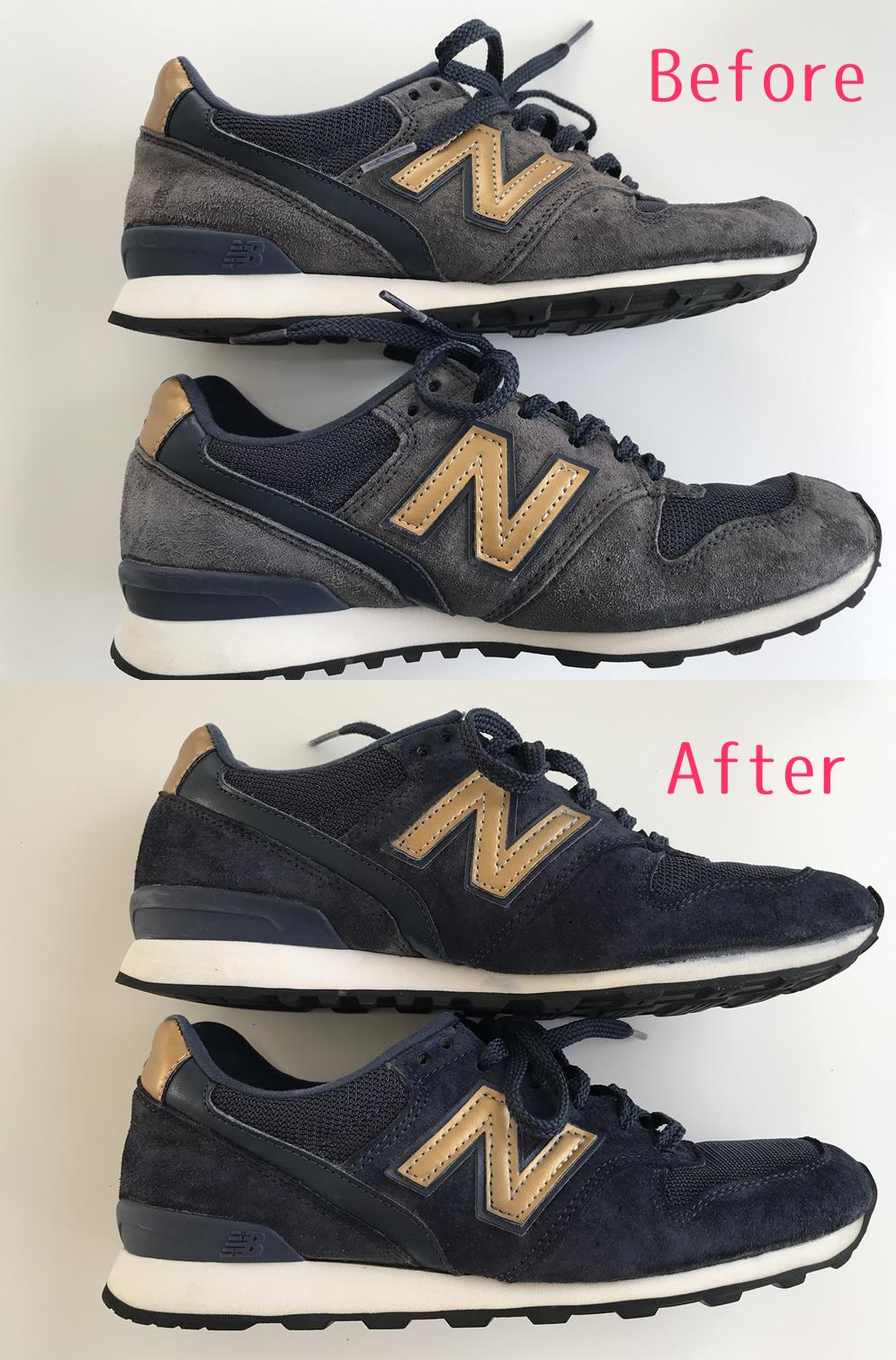 ニューバランスのスニーカーを補色