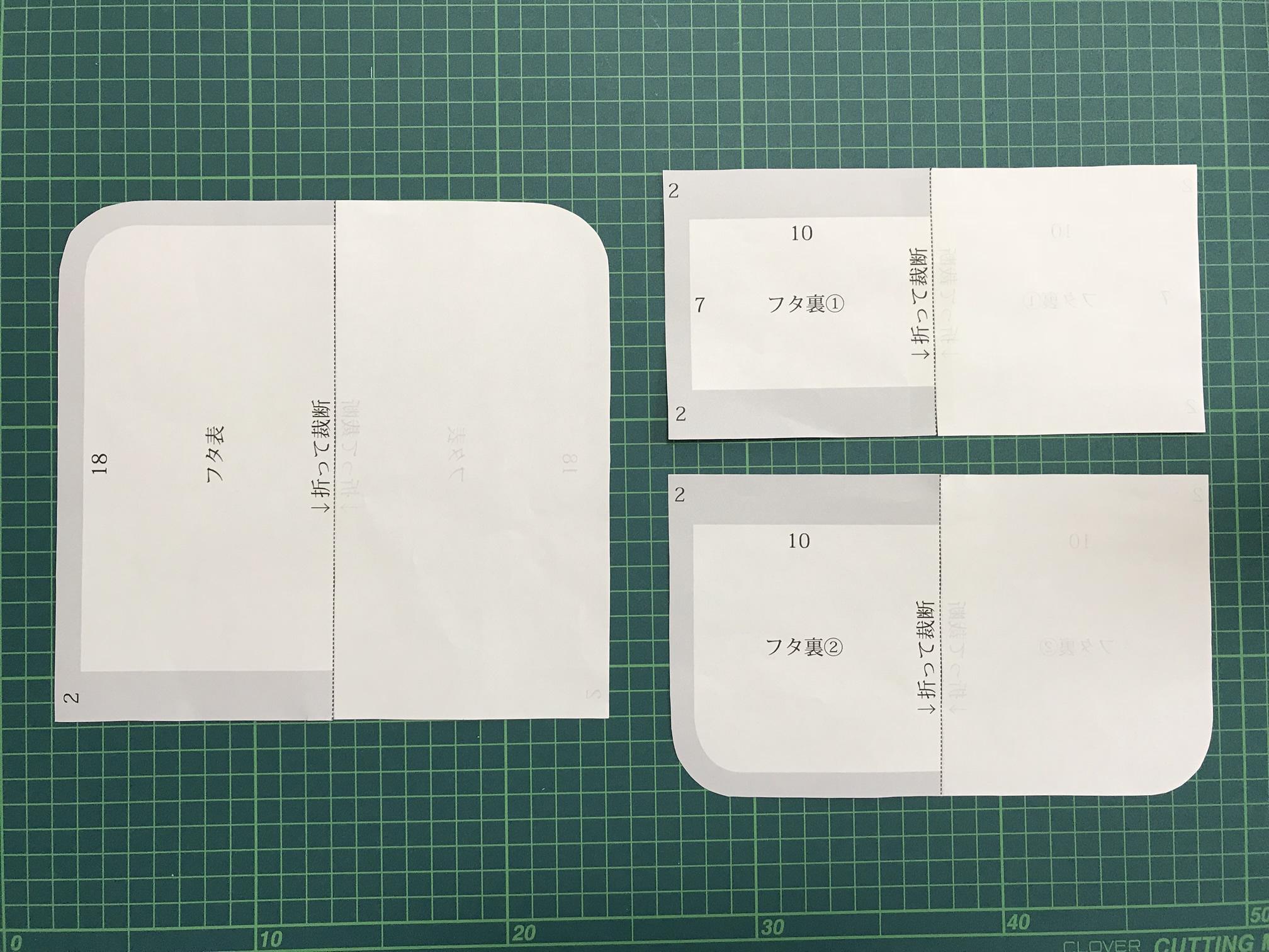 バッグインバッグ型紙