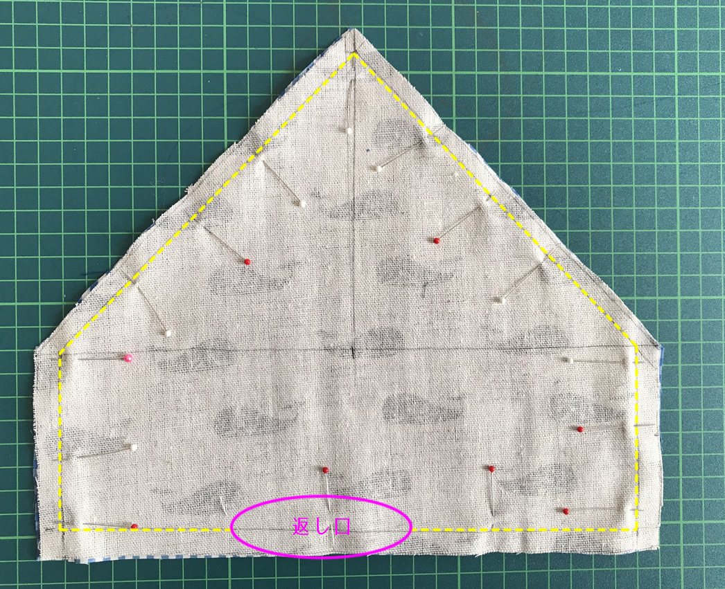 周囲を縫う