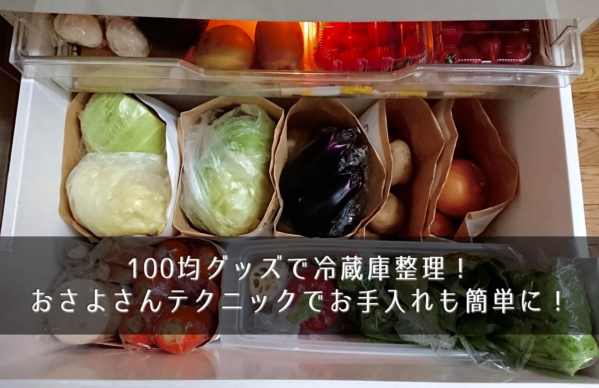 100均グッズで冷蔵庫整理!おさよさんテクニックでお手入れも簡単に!