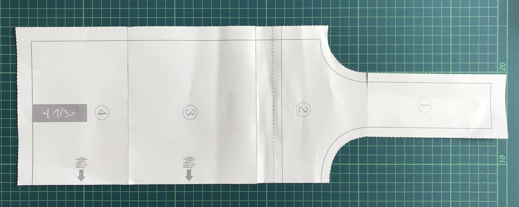 小サイズ型紙