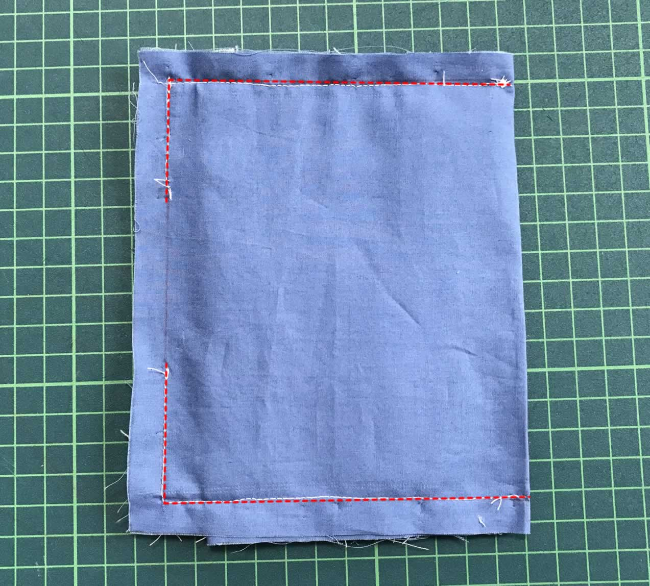たたんで縫う