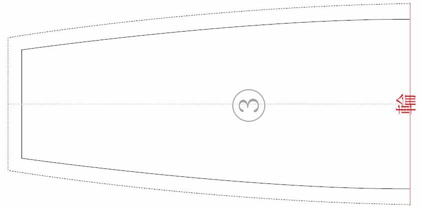三角巾の型紙③